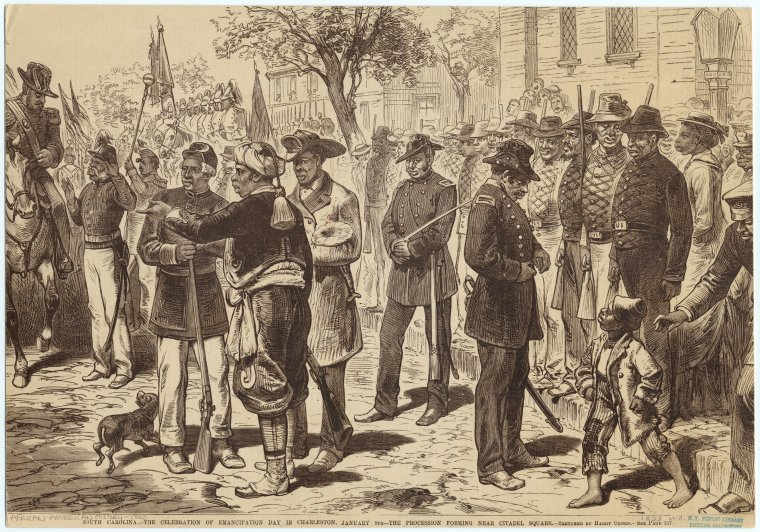 Emancipation Day depiction, Courtesy of the New York Public Library