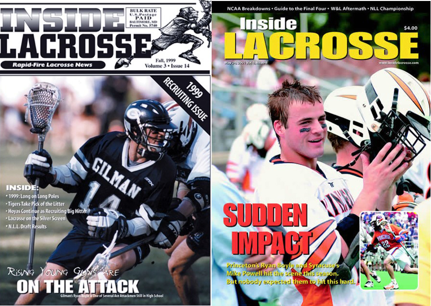 Ryan Boyle made the cover of inside lacrosse as high school and collegiate player, Courtesy of Inside Lacrosse