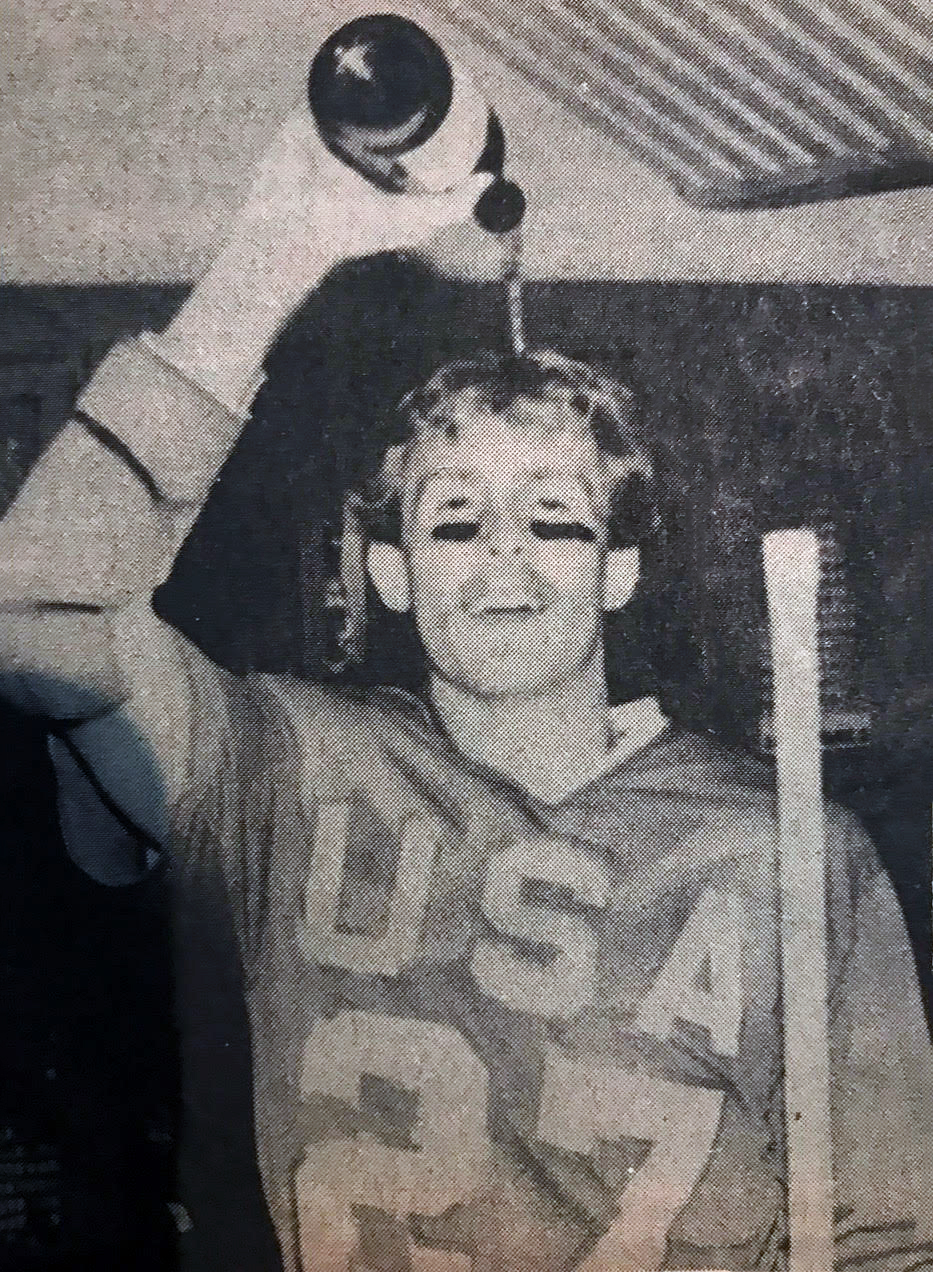 Jim Burke after the 1982 World championship win, Courtesy of Bill Beroza