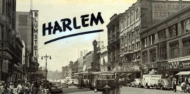 Postcard of Harlem, New York 1946, Courtesy of the New York City Public Library