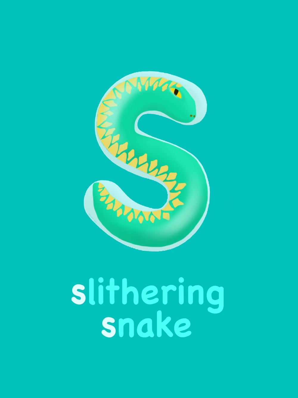 Letter S - Slithering Snake