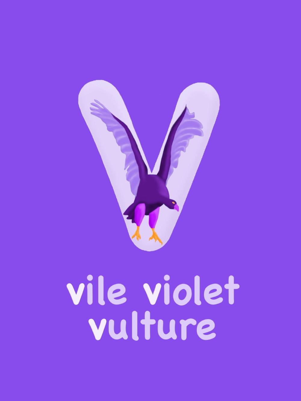 Letter V - Vile Violet Vulture