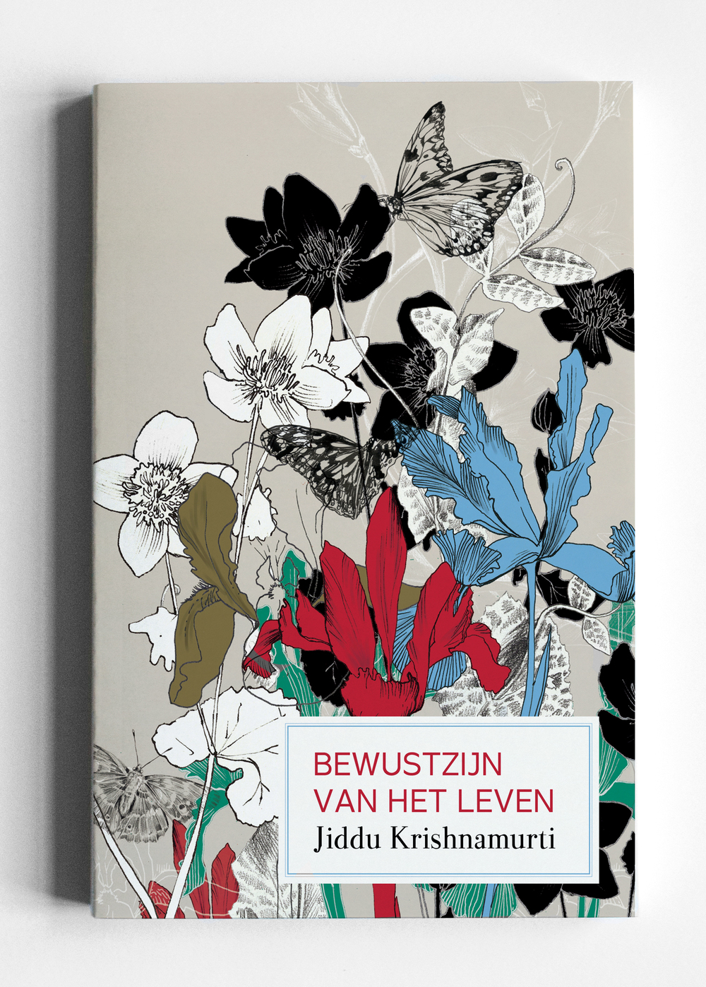 fig 1. Bookcover illustration, layered inky flowers