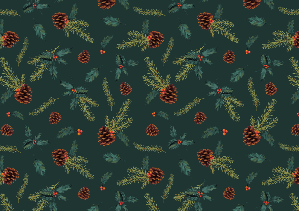 fig. 5. Pine & holly repeat pattern