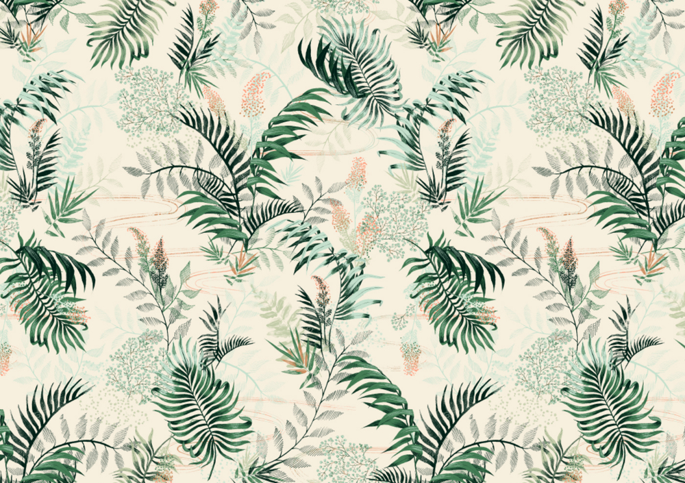 fig. 1. Pattern: palm leaves, waving in the wind