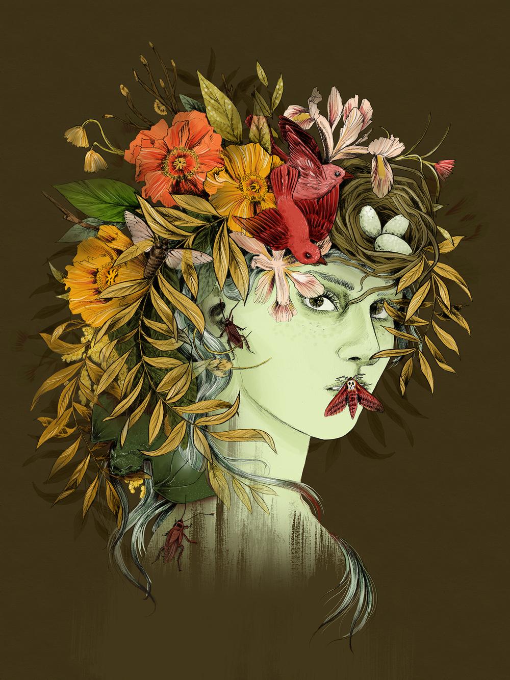 fig. 1.Portrait of Persephone, goddess of spring