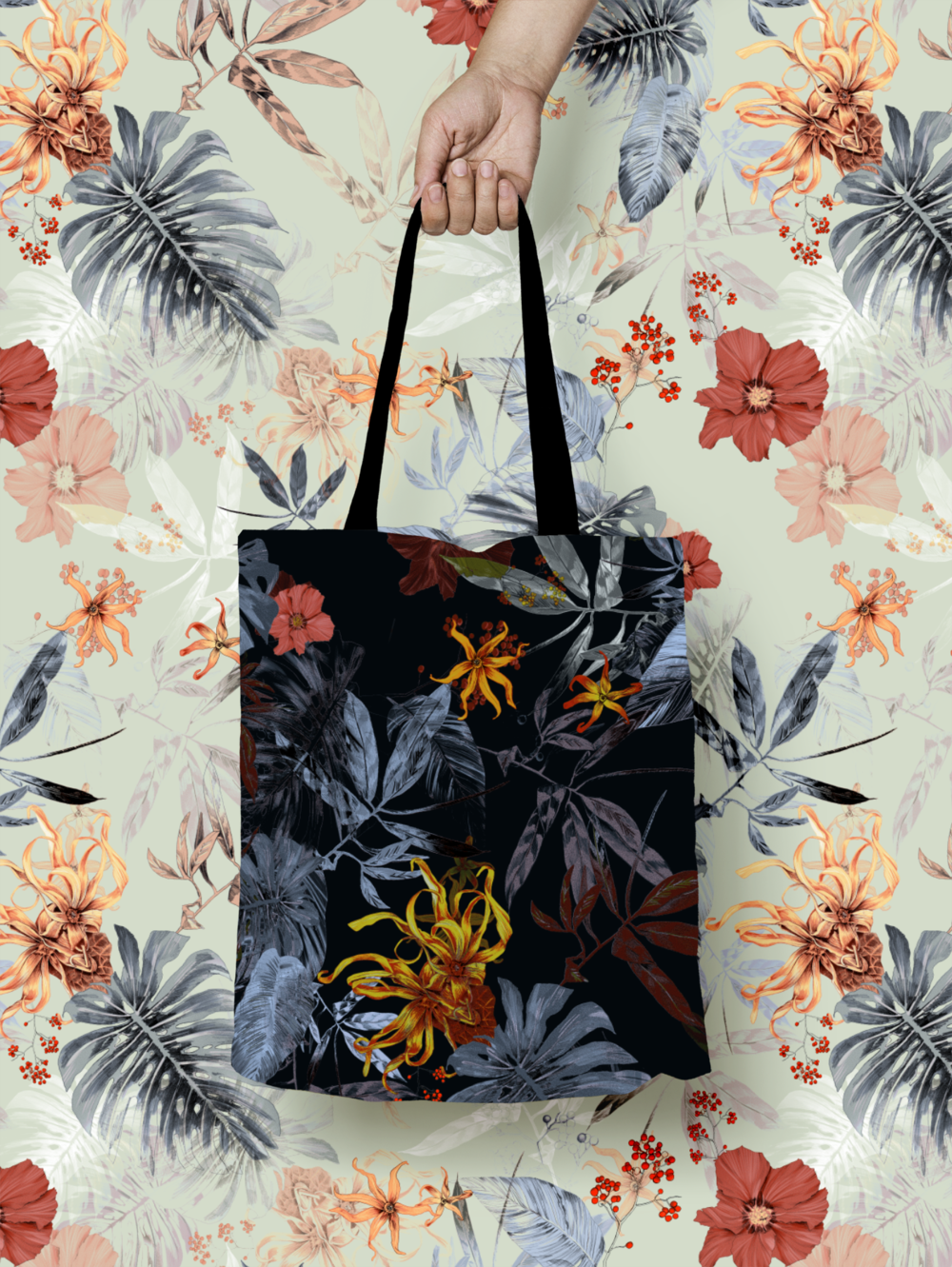 fig. 4. Patterned totebag