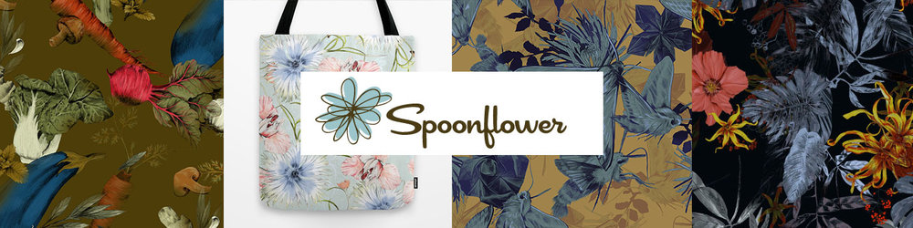 SPOONFLOWER FABRICS :   For all kinds of fabric, wallpaper and wrapping paper (shipping from the USA).   Shop it now !