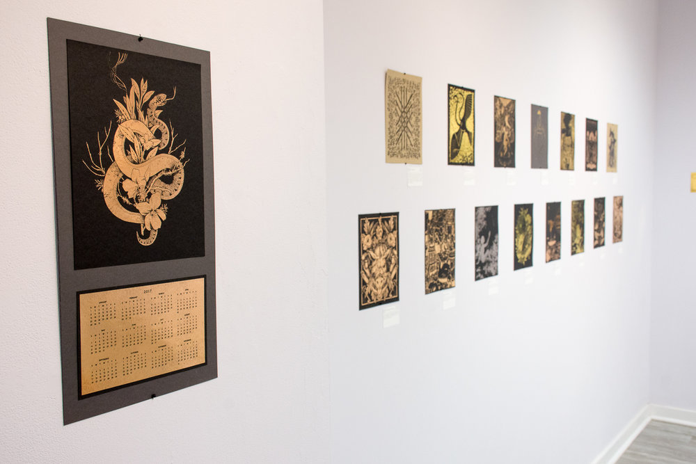 fig. 6. The Fortune exhibition, my piece as a calendar (photo by Light Grey Art Lab)