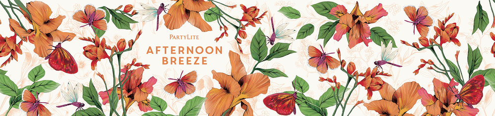 fig 2. Afternoon Breeze candle wrap pattern illustration