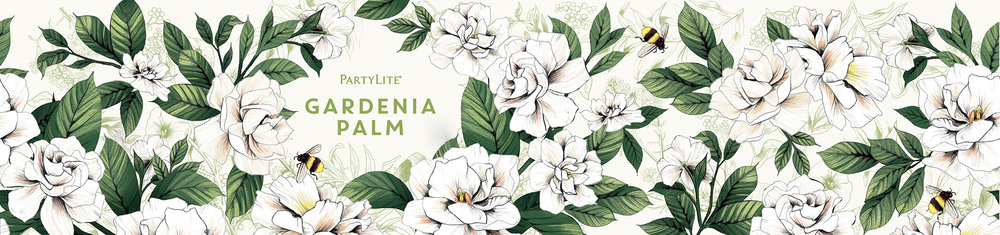 fig. 11. Gardenia Palm candle wrap pattern illustration
