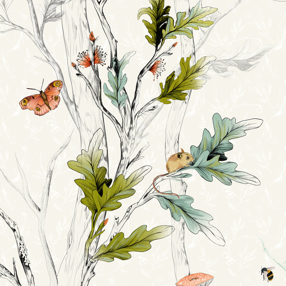 Fig. 2. Some detail from the wallpaper