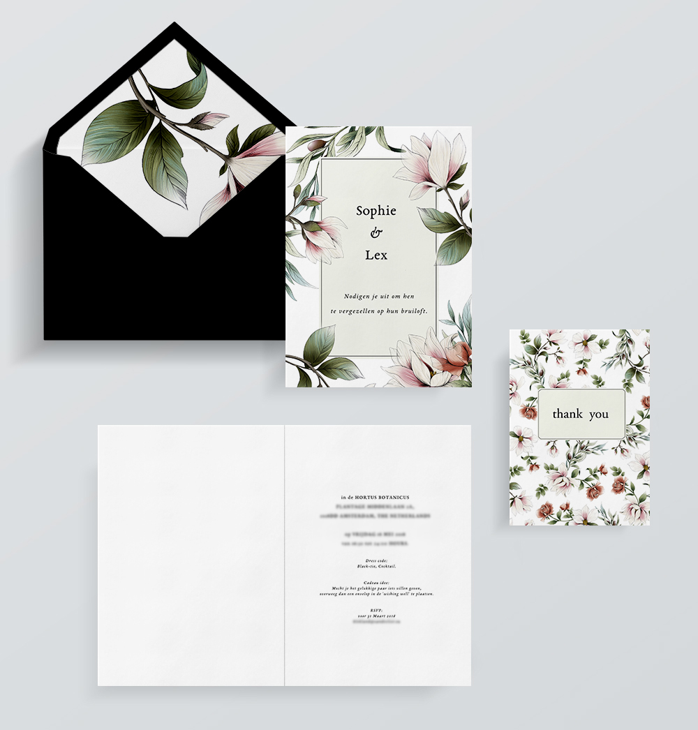 fig. 2. The Wedding Stationery (graphic design by Mike van de Vliet)