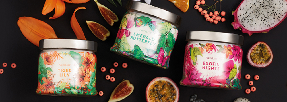 fig 1. Partylite Summer Collection (photo: Partylite catalogue)