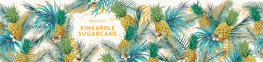 fig.5. Pineapple Sugarcane candle wrap pattern illustration
