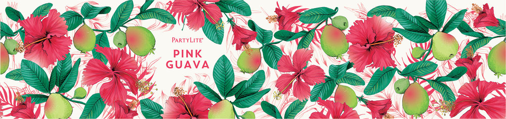 fig. 9. Pink Guava candle wrap pattern illustration