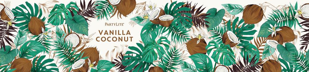 fig. 10. Vanilla Coconut candle wrap pattern illustration