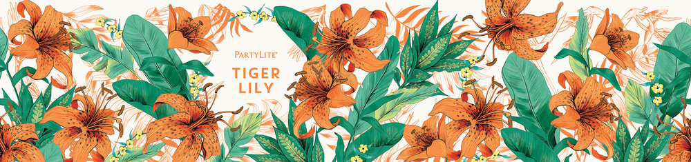 fig. 13. Tiger Lily candle wrap pattern illustration