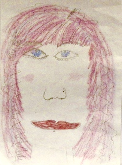 Mandy, as drawn by one of the children working with Improving Futures