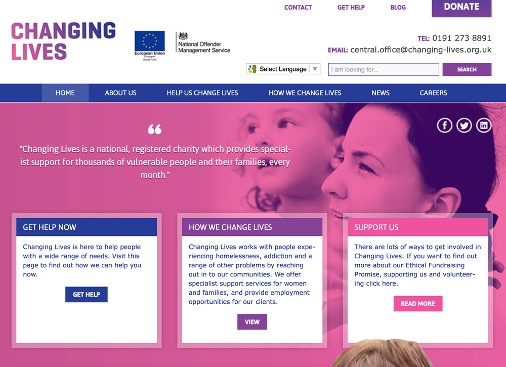 The Changing Lives website (www.changing-lives.org.uk)