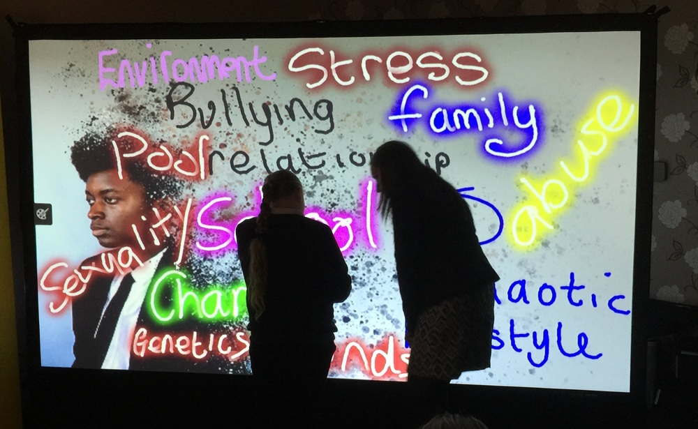 The Digital Graffiti Wall