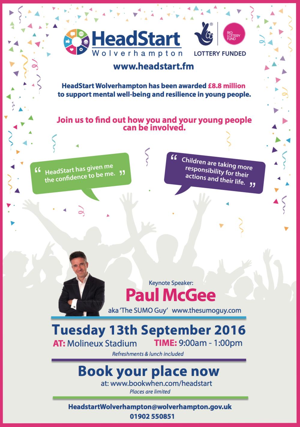 Flyer for Stakeholder Event, Tuesday 13th September 2016 (PDF)