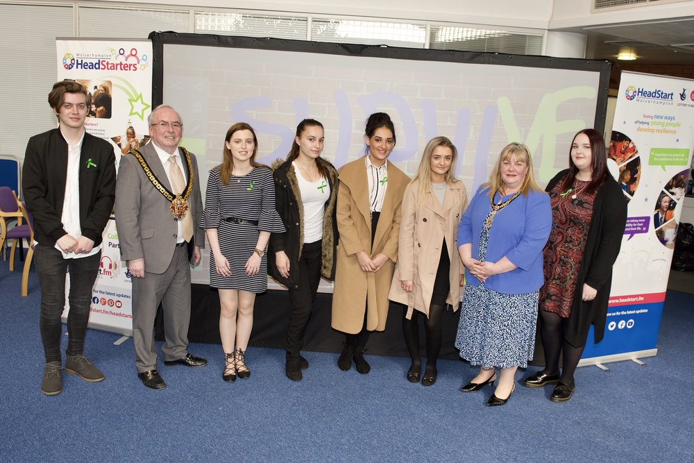 Some of our HeadStart Ambassadors, meeting with the Mayor and Mayoress of Wolverhampton at HeadStart HQ.