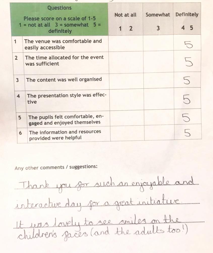 Great feedback!