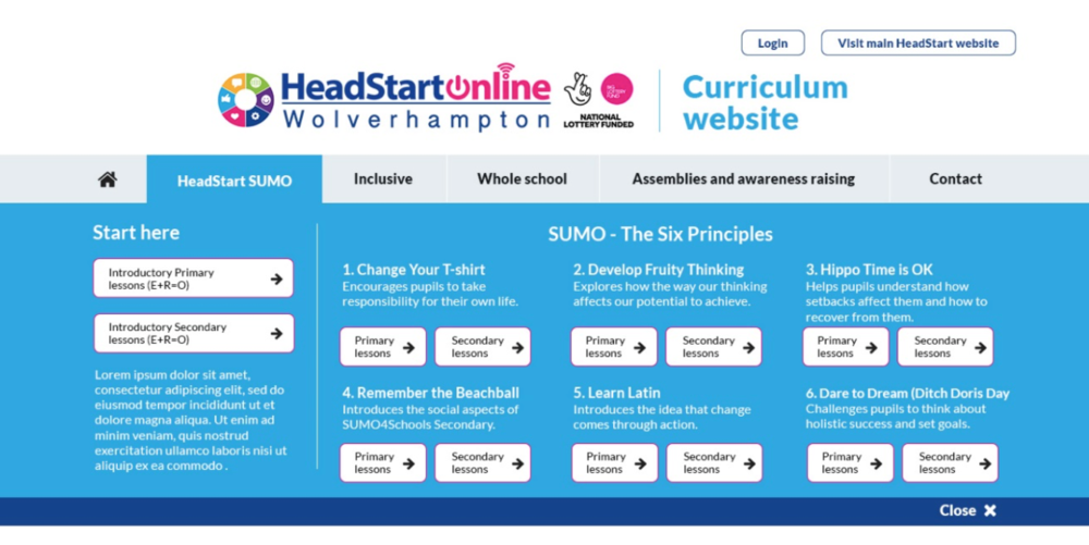 Curriculum site banner