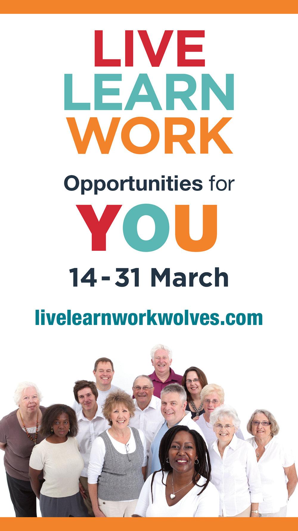 Visit the Live, Learn, Work website at  www.livelearnworkwolves.com