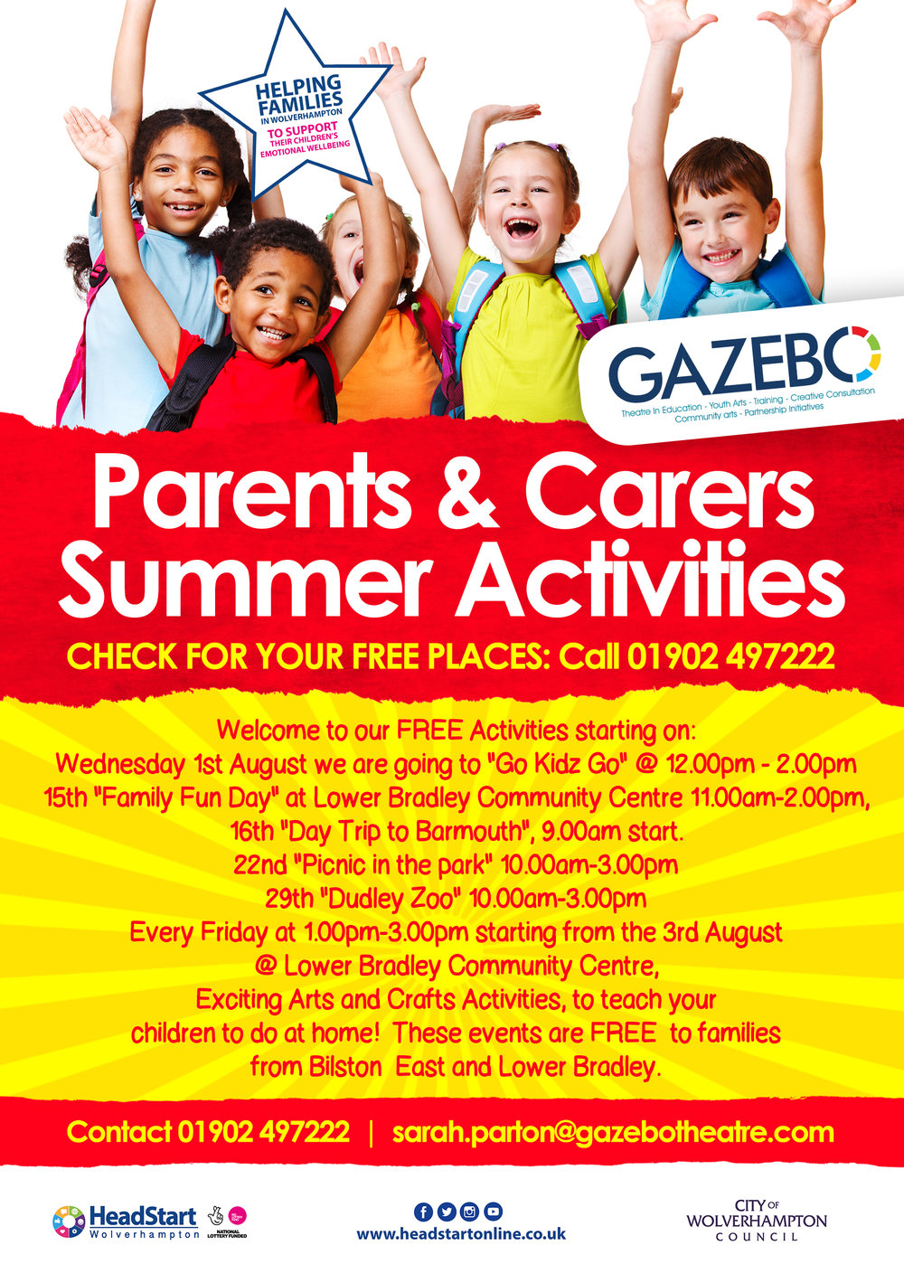 Don't forget to also check the Gazebo Summer Programme for Parents and Carers!