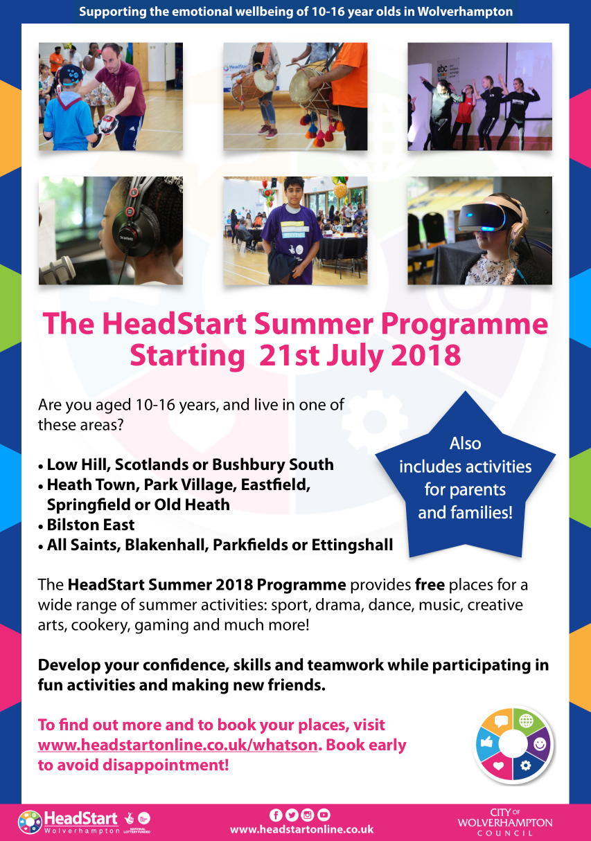 (If you live in Wolverhampton,   check out our 'What's On?' guide   for listings for the free HeadStart Wolverhampton Summer Programme)