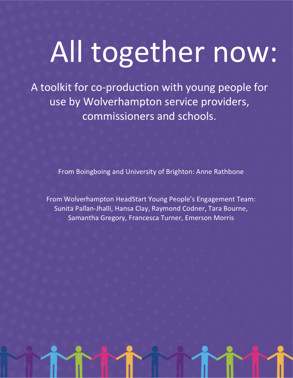 Download the Headstart Wolverhampton coproduction toolkit   (PDF)