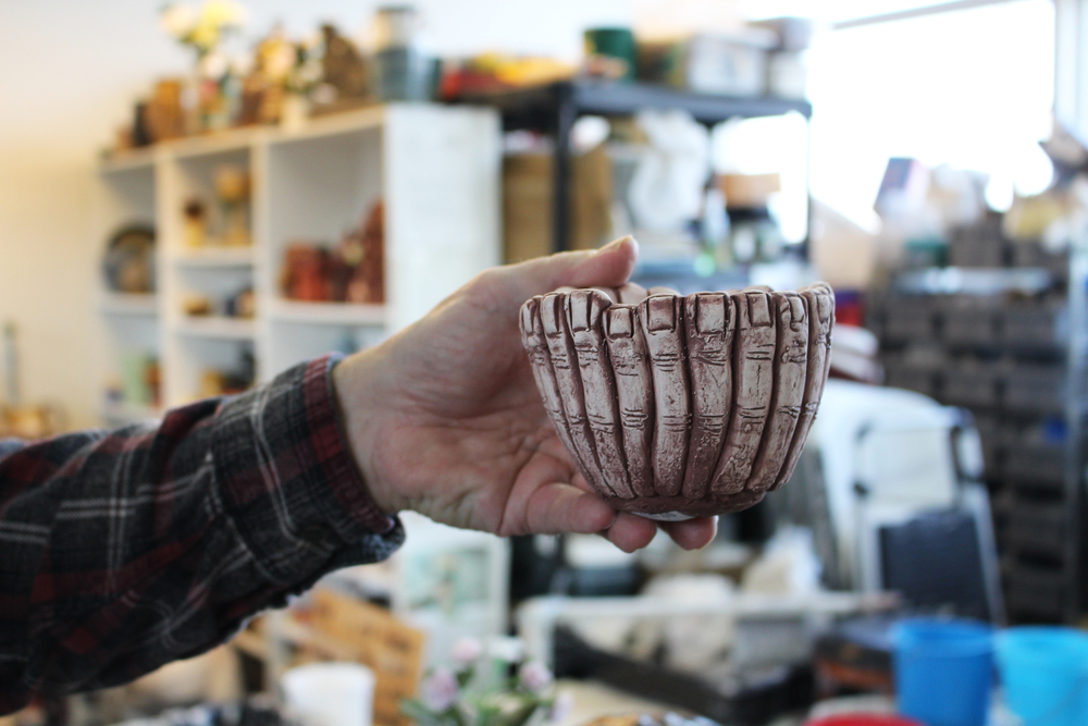 "Jim Carlson's ceramic ""finger"" bowl."