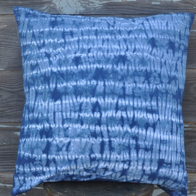 Example of Mokume Shibori.
