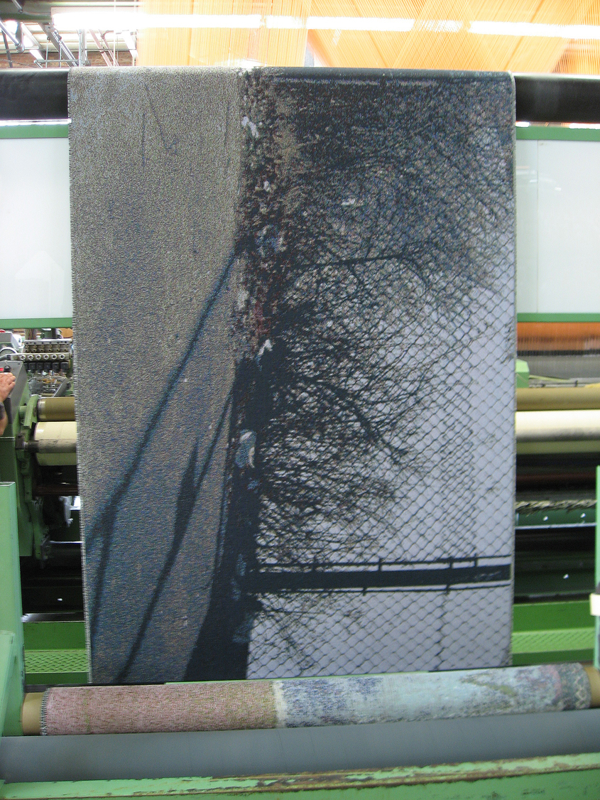 """Fenced"" on the Jacquard loom."