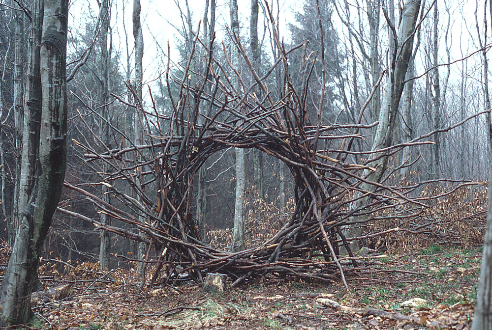 Woven Branch Circular Arch, Dumfrieshire  by Andy Goldsworthy, 1986.