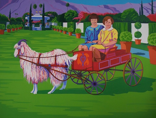 "We Were Heading Home, But Somehow Ended up He re, 64"" x 42"", oil, 2012."