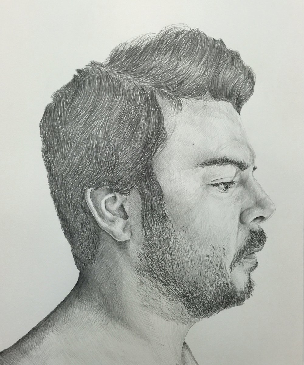 My Heavy Weight , graphite on Rives BFK, 2016.