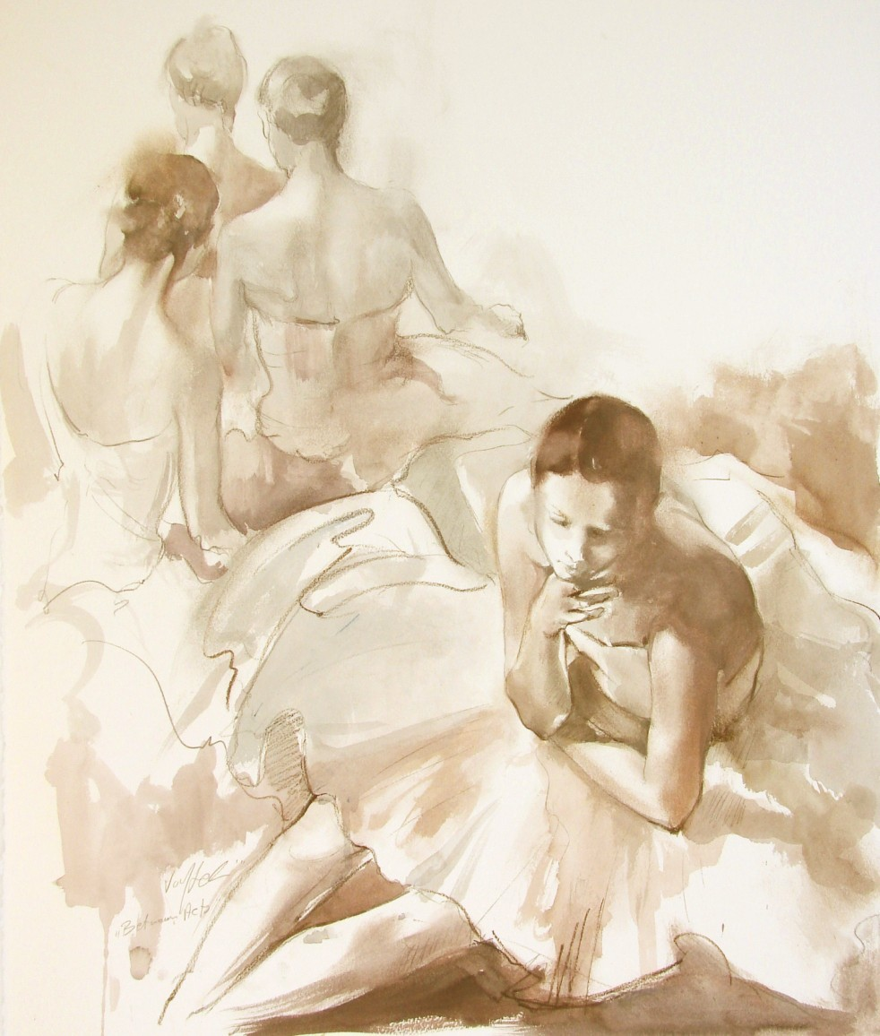 """Dancers"" by Voytek. 26 x 22 inches."