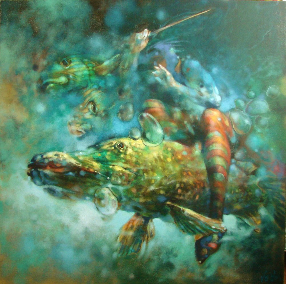 """Muted Symphony-Opus I"" by Voytek. 36 x 36 inches."