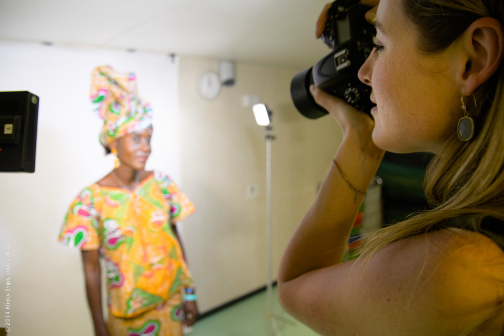 Photo Credit: Josh Callow; Photographer Catherine Murphy takes portraits of VVF patients after the ceremony.