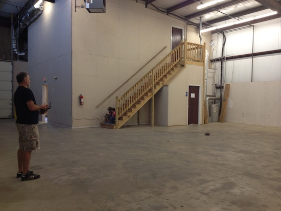 The two studios are more than 4000 square feet, lots of room to shoot and, of course, drive a remote-controlled car.