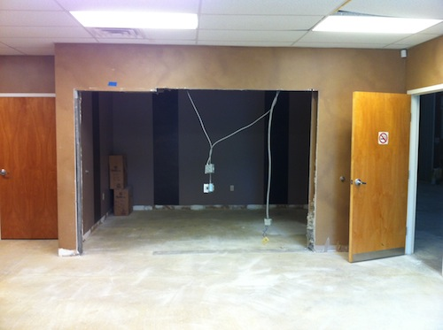 We'll move the wires when you visit. We expect a move-in date of mid-November. Exciting.