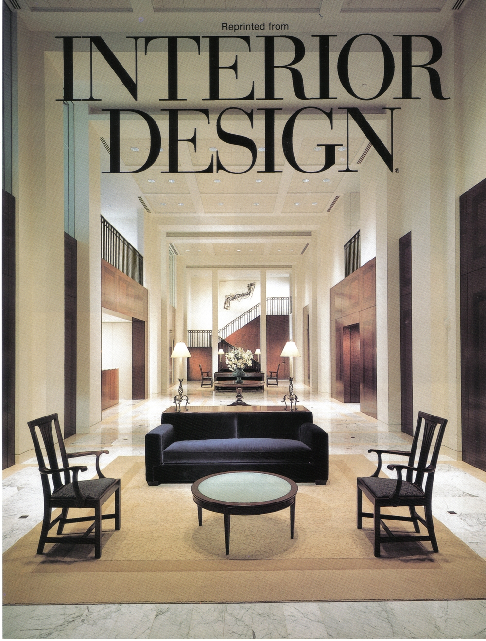 Corporate Art Installation: Price Waterhouse International Headquarters, The Americas Tower. Interior Design Magazine cover, 1994.