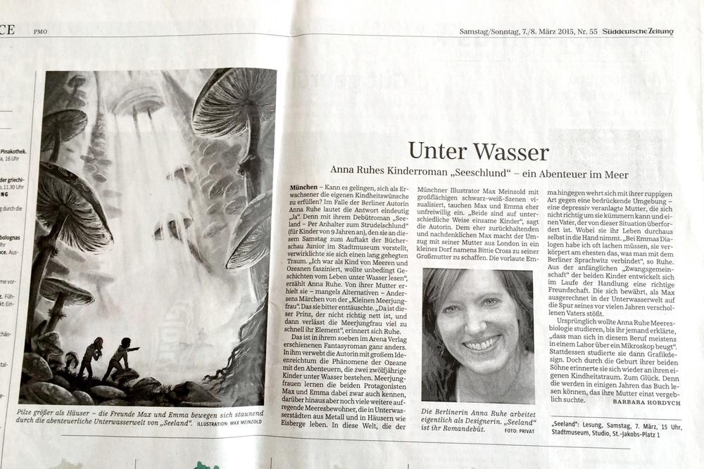 """SZ Artikel über """"Seeland"""" am Samstag/Sonntag 7./8. März 2015 Nr. 55"""