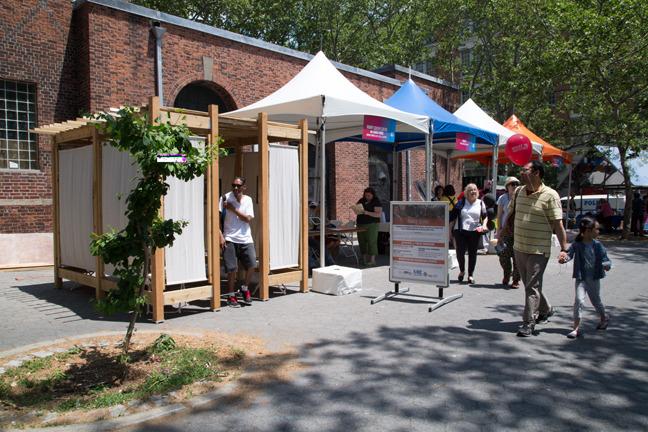 Moving Stories Kiosk (sukkah) at IDEA City, May 30, 2015