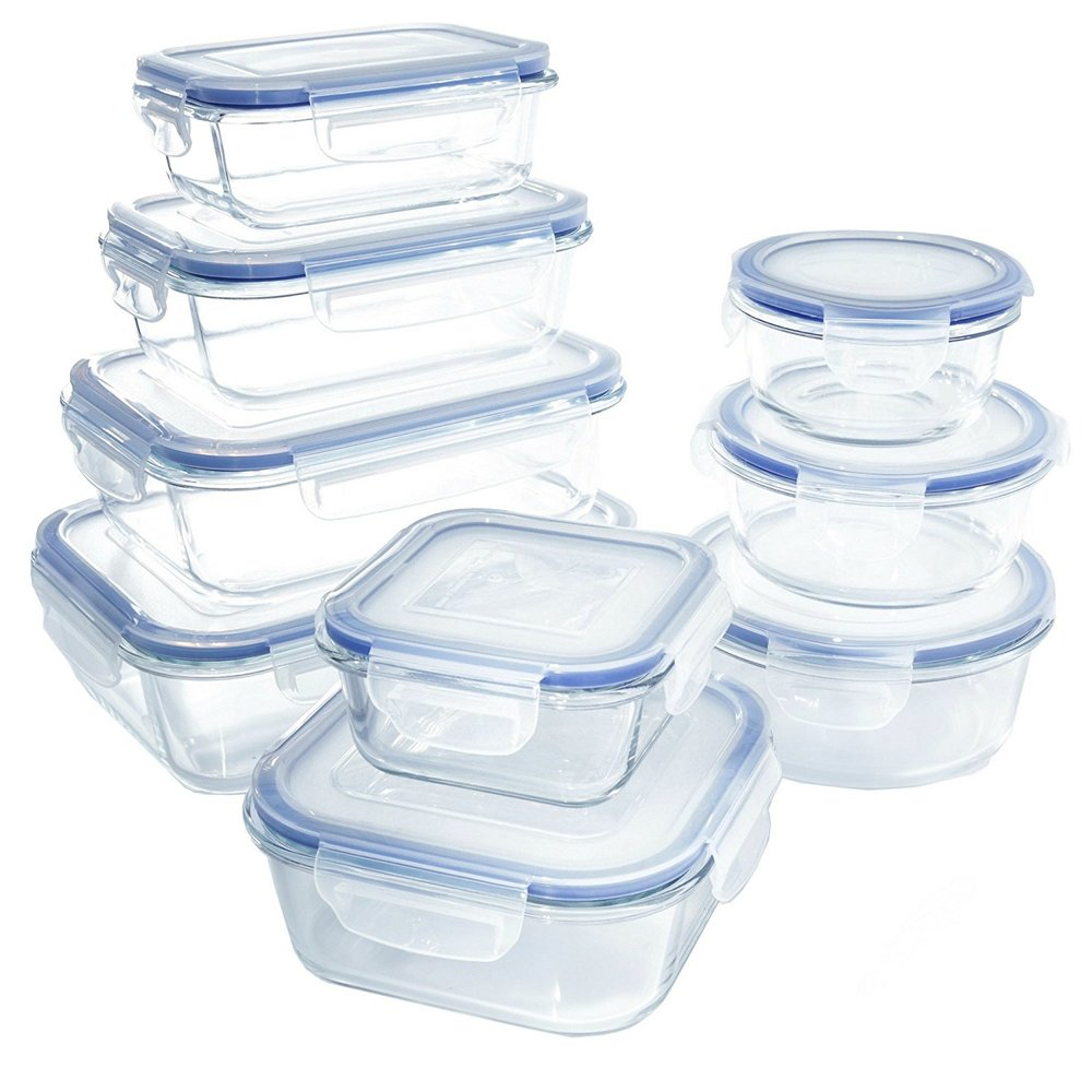 18 Piece Glass Food Storage Container Set