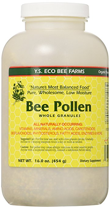 Bee Pollen - Low Moisture Whole Granulars YS Eco Bee Farms 16 oz Granular