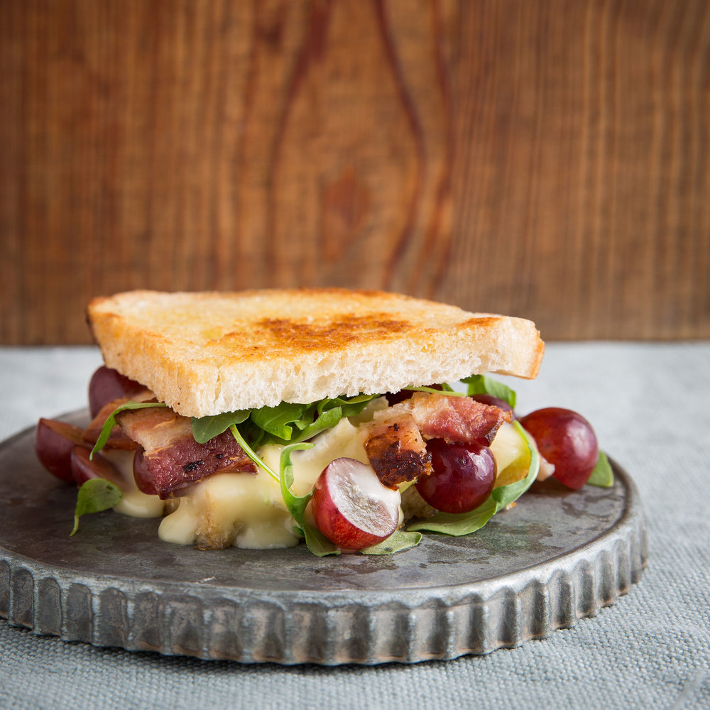 Brie and Chilean Grapes Grilled Cheese Sandwich